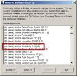 Windows Install CleanUp - Adobe Photoshop CS3